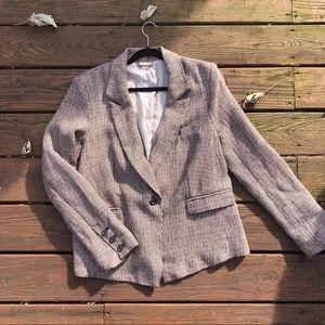 Free People slouchy linen blazer size large